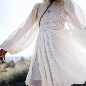 Spell Scorpio Cloth Mini Dress in Bone